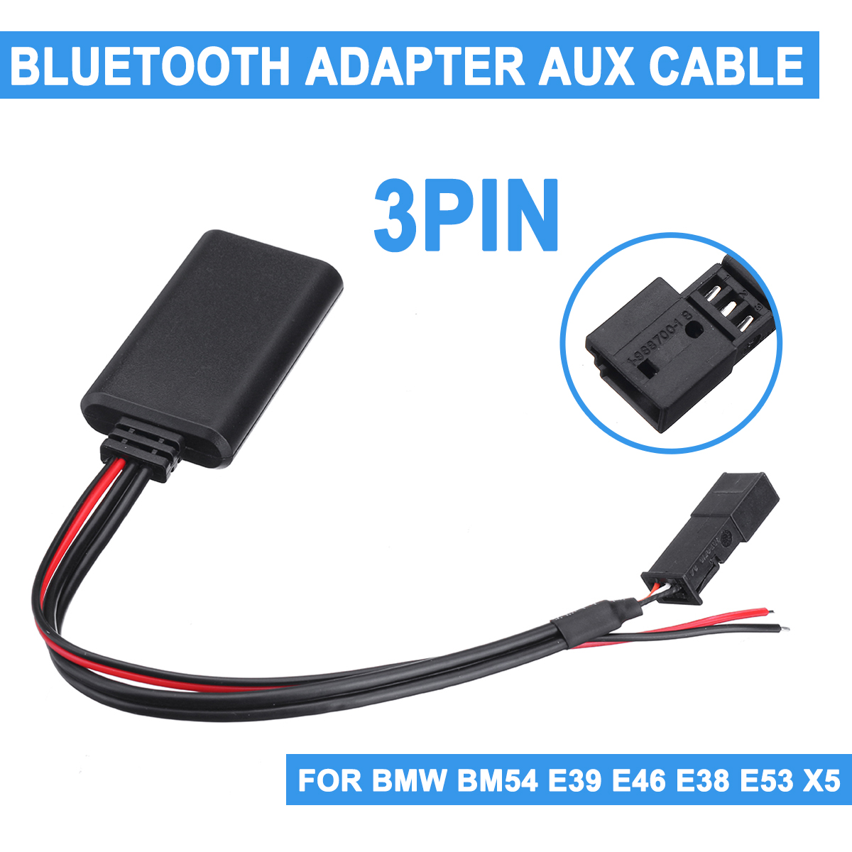 For <font><b>BMW</b></font> BM54 E39 E46 E38 E53 X5 Car bluetooth Module AUX IN Audio Radio Adapter <font><b>3</b></font>-pin Car Electronics Accessories image