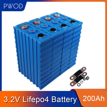 PWOD  8PCS CALB 200Ah not 280AH 150AH 3.2V SE200AH Lithium LiFePO4 Cell pack diy for solar RV EV pack 12V 24V 48V EU US TAX FREE