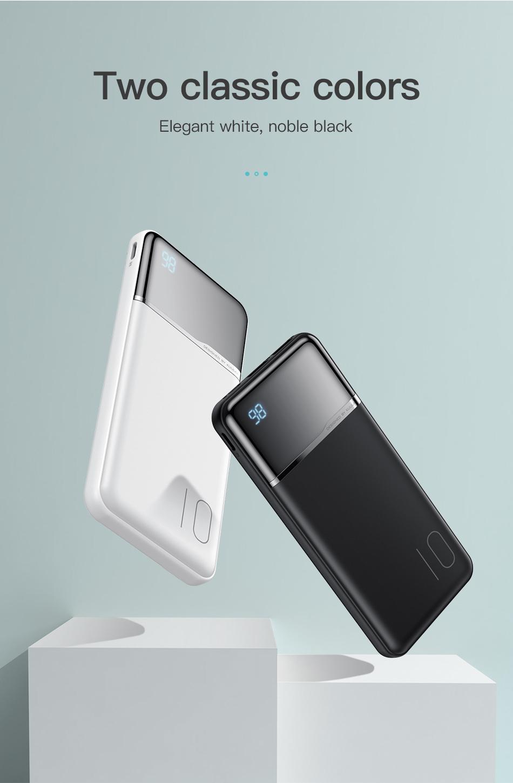 KUULAA Power Bank 10000mAh Portable Charging PowerBank 10000 mAh USB PoverBank External Battery Charger For Xiaomi Mi 9 8 iPhone 13