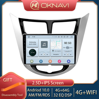 OKNAVI Android 9.0 Car Radio Multimedia Video Player For Hyundai Solaris 2010-2016 GPS Navigation Smart Stereo DSP Carplay 2 din image