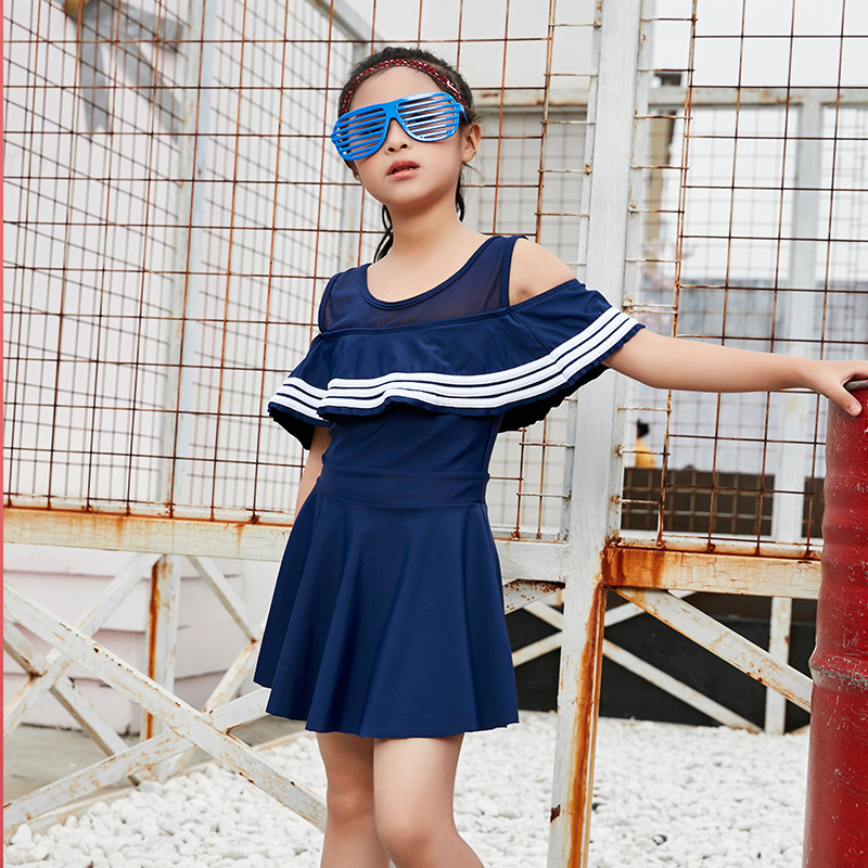 KID'S Swimwear Girls Split Type Princess Dress Tour Bathing Suit Boxer Children GIRL'S Cute South Korea Baby Swimwear
