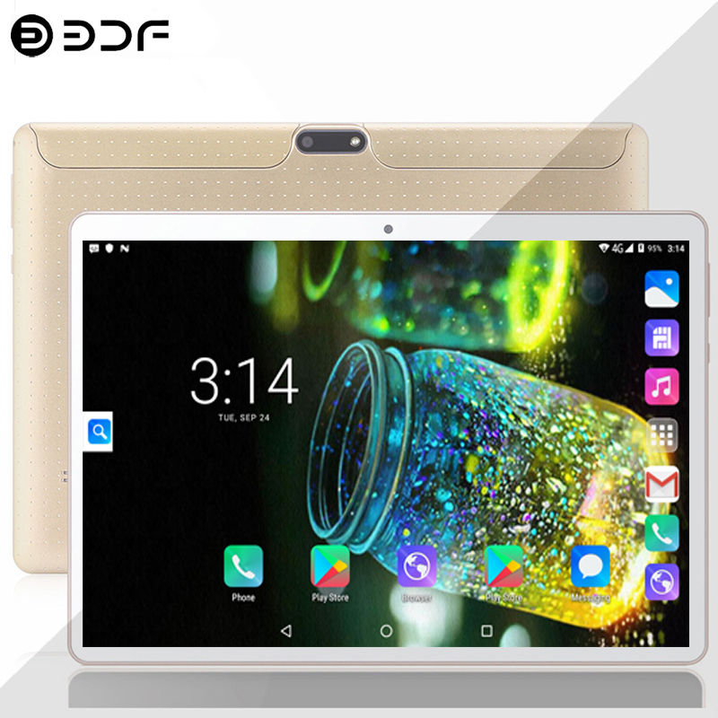 10.1-inch Tablet PC Android 7.0 3G/4G Phone Call 4GB/64GB Dual SIM Card Cota Core Wi-fi Bluetooth Tablets PC + Keyboard