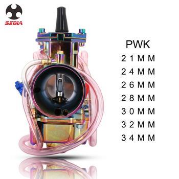 Carburador de motocicleta colorido Carburador PWK 21 24 26 28 30 32 34 MM para Keihin con Moto de carreras de potencia