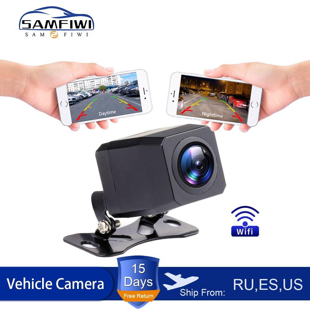 Caméra de vue arrière de voiture sans fil | Caméra de recul WIFI de tableau de bord, caméra de Vision nocturne HD, Mini tachographe du corps pour iPhone et Android, nouveau 2020