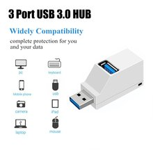 Mini 3 Ports USB 3.0 Hub High Speed Data Transfer Splitter Box Adapter For PC Laptop MacBook Air Pro binful mini usb hub 3 0 super speed 5gbps 7 ports 1 charging portable micro usb 3 0 hub splitter with cable for pc accessories