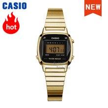 Casio watch gold Natural diamonds women watches set top bran