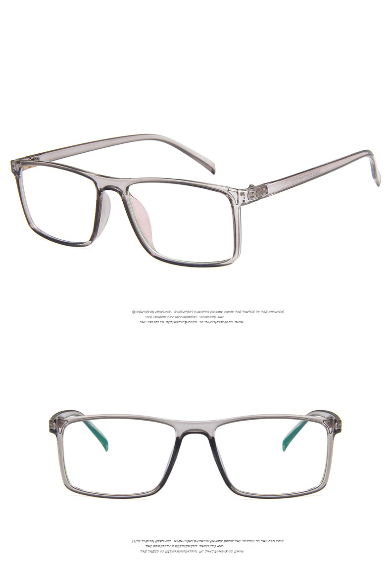 Armação unissex para computador, óculos retrô azul