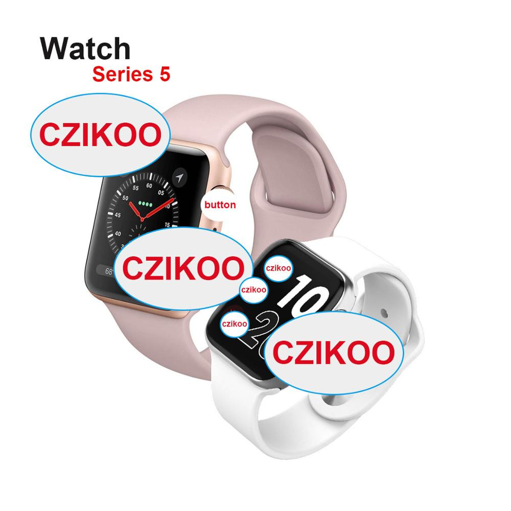 iwo <font><b>12</b></font> <font><b>Smart</b></font> <font><b>Watch</b></font> Series 5 ECG Heart Rate Clock Push Message Bluetooth Connectivity For IOS Android vs iwo 10 iwo 8 Smartwatch image