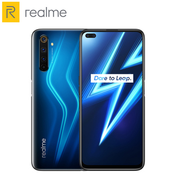 Купить Realme 6 Pro 6Pro, 8 Гб ОЗУ 128 Гб ПЗУ, Snapdragon 720G, 30 Вт, экран для быстрой зарядки, 90 Гц, аккумулятор 4300 мАч, аккумулятор 20x Zoom NFC