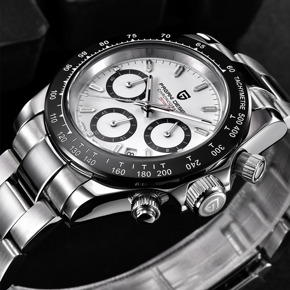 PAGANI DESIGN Men Watch Top Brand Luxury Business Sapphire Stainless Steel Waterproof Sport Chronograph Watch Relogio Masculino