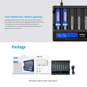 Image 2 - XTAR VC8 Caricabatteria QC3.0 Veloce di Ricarica di Tipo C di Ingresso Max 3A 1.2V NI MH AAA AA 3.6V li ion Batteria 10400 26650 18650 Caricabatterie