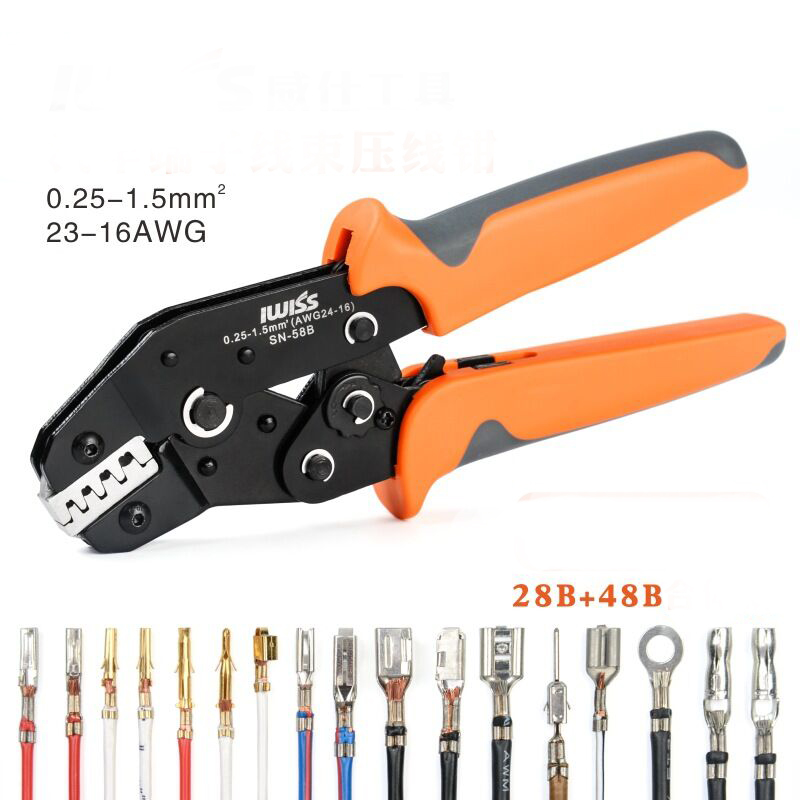 Crimping Pliers Set SN-58B SN-28B  SN-48B For 2.54 2.8 3.96 4.8 6.3 Tube/Insulation Terminals Electrical Clamp Tools