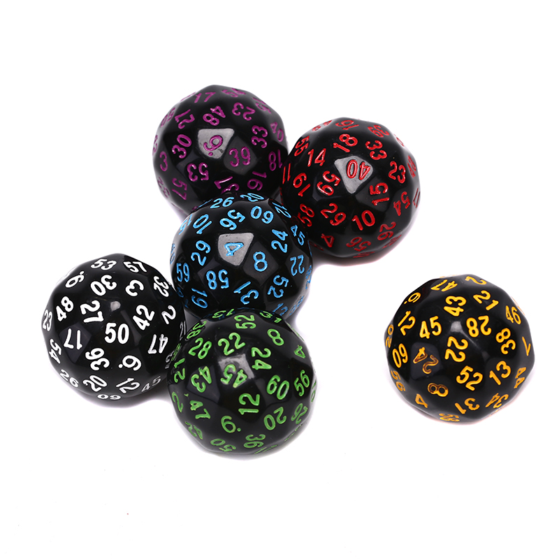 1Pcs Game <font><b>Dice</b></font> Polyhedral <font><b>D60</b></font> Multi Sided <font><b>Dice</b></font> Digital <font><b>Dice</b></font> Game Party Entertainment Equipment image