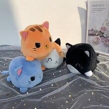 Kawaii Реверсивный кота одежда для девочек с принтом Детские