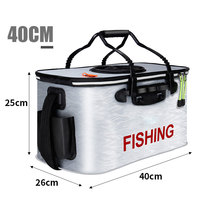 Travel waterproof foldable insulated large aluminium foil fish cooler bag lightweight fishing bucket Fishing Tackle Boxes     -