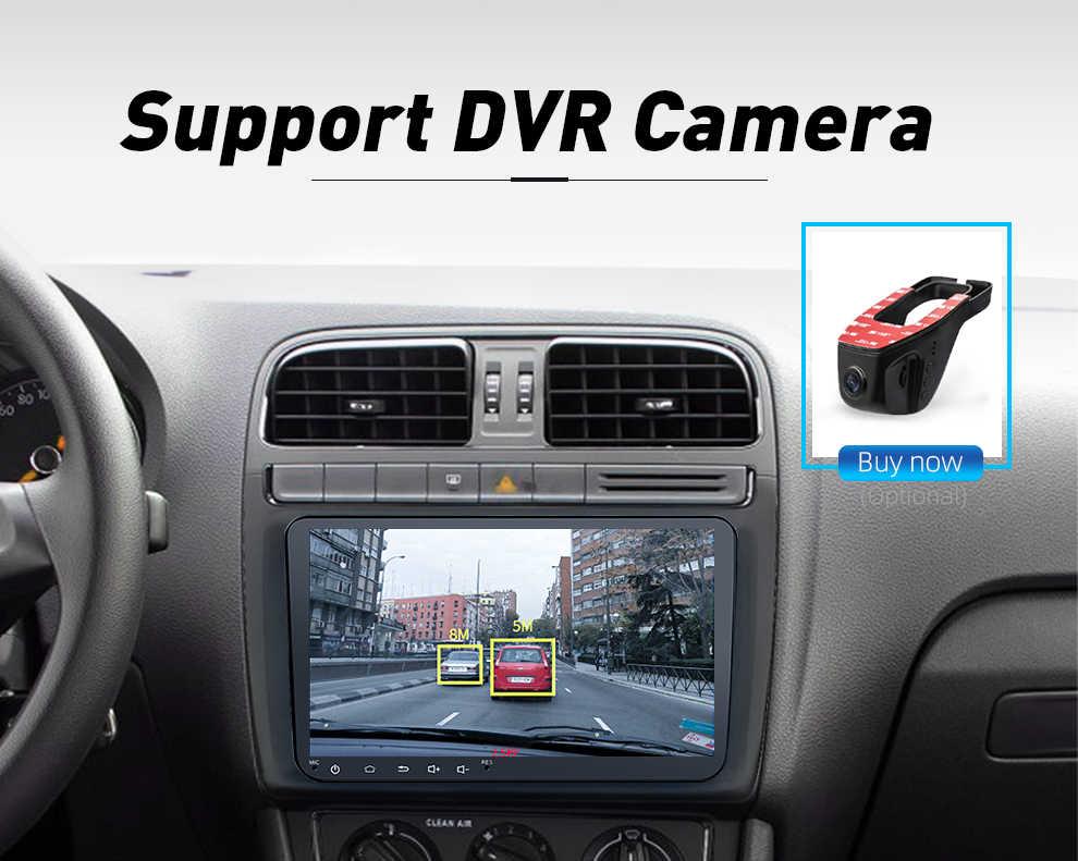 ダブル 2Din カーラジオの Android 8 GPS 9 ''車の自動車ゴルフポロパサートカブトムシトゥーランシュコダシート Wifi bleutooth 2din autoradio