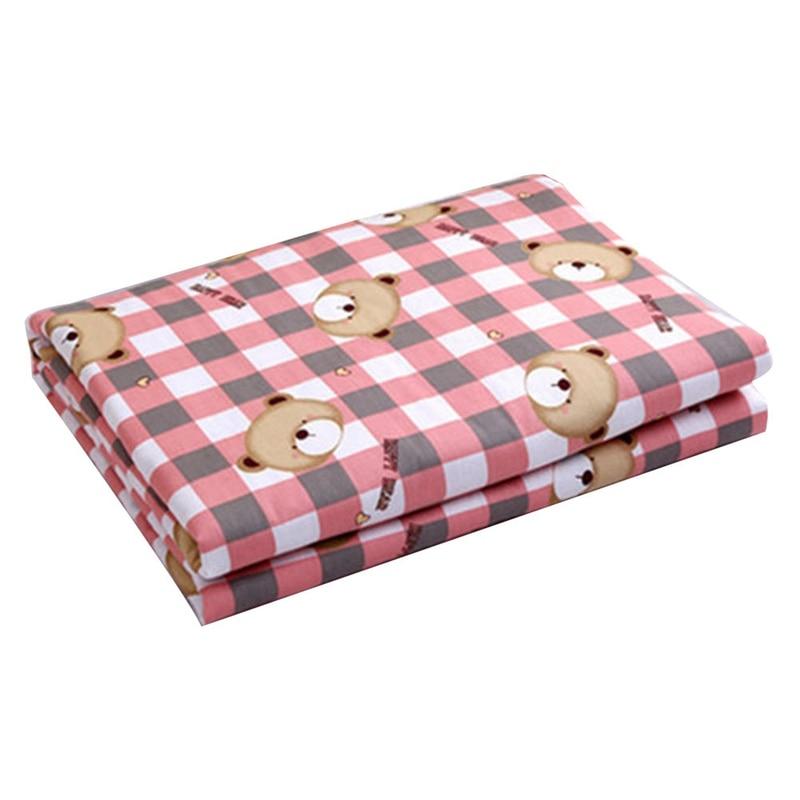 50*70cm Baby Waterproof Sheet Urine Changing Pads Urine Pad Cartoon Reusable Infant Bedding Nappy Burp Mattress Changing Mat