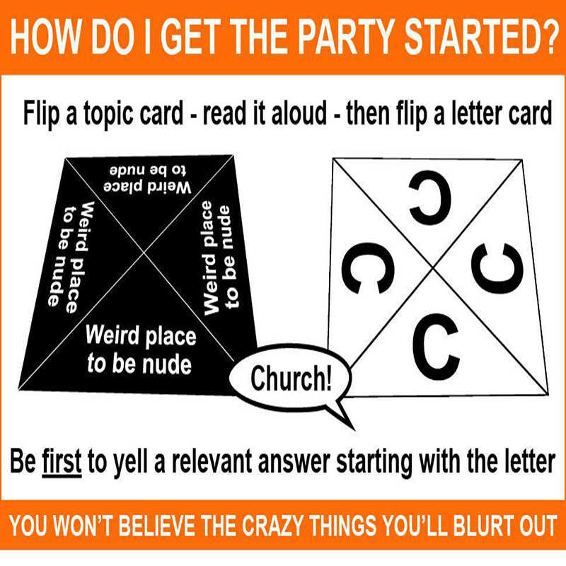 Spot Board Game Logic games Family party English Quick Dirty Fast And Dirty a Offensive Interesting of Party Card