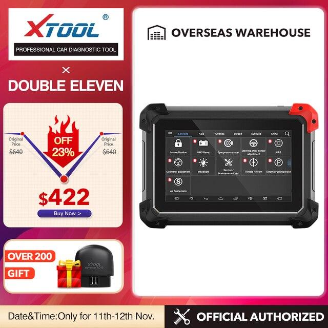 Диагностический инструмент XTOOL EZ400pro OBD2, сканер, автомобильный считыватель кодов, тестер, ключевой программатор ABS, подушка безопасности, SAS, EPB, DPF, масловые функции