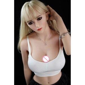 Image 3 - 165 センチメートル #101 高品質スーパー巨乳巨尻フルtpeと金属スケルトンセックス人形メンズリアル膣経口猫おなら美容