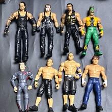 Hotsale 5 adet/grup meslek güreş gladyatör hareketli çok ortak Model bebekler güreşçi aksiyon figürü oyuncaklar ücretsiz kargo