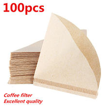 100 шт новый деревянный ручной v60 капельного бумажный фильтр