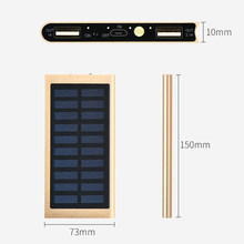 20000mAh Portable External Battery Solar Power Bank phone Charger Dual USB Powerbank for iPhone 8 XS max Xiaomi Huawei Poverbank()