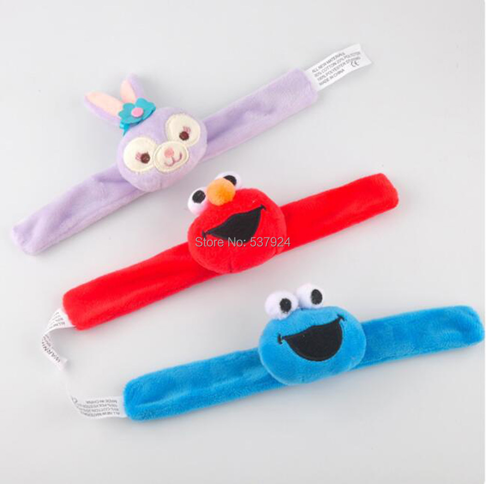 New Sesame Street Elmo Cookie Monster Rabbit Wristband Hairband Xmas Plush Doll-CPPY