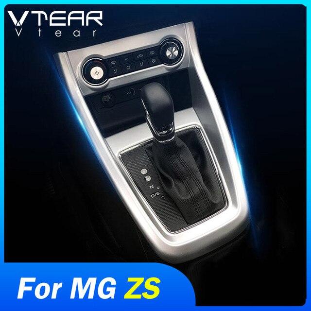 Vtear For MG ZS car center console frame gear shift decorative GPS panel cover interior trim accessories decoration automobile