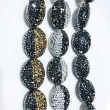 Bracelets Wedding-Jewelry DIY Silver Stone Round Vintage for Necklaces Berbeny 2PCS Natural-Beads