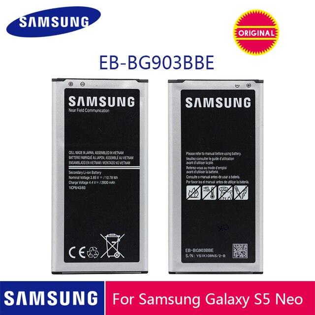 サムスンオリジナル電話バッテリー EB BG903BBE 2800 サムスンギャラクシー S5 ネオ G903F G903M G903H 交換電池 NFC