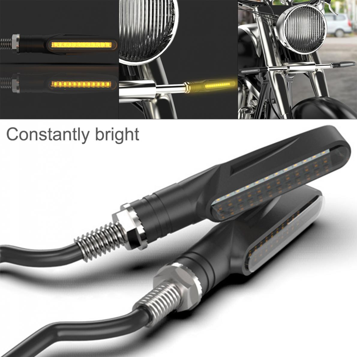 LED Motorcycle Turn Signals Light Bulb Blinker Flashing Indicator Bendable Motorbike Tail Stop Signal Lamp