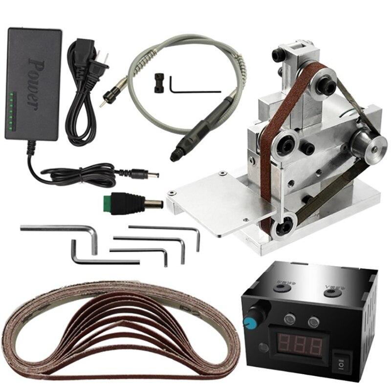 Us Plug,Multifunctional Grinder Mini Electric Belt Sander Diy Polishing Grinding Machine Cutter Edges Sharpener Belt Sander Sand