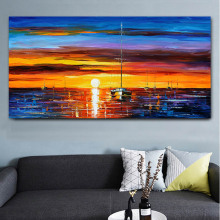 Canvas Painting Landscape Posters and Prints Colorful Oil Painting Street Tree Wall Pictures for Living Room Cuadros Home Decor