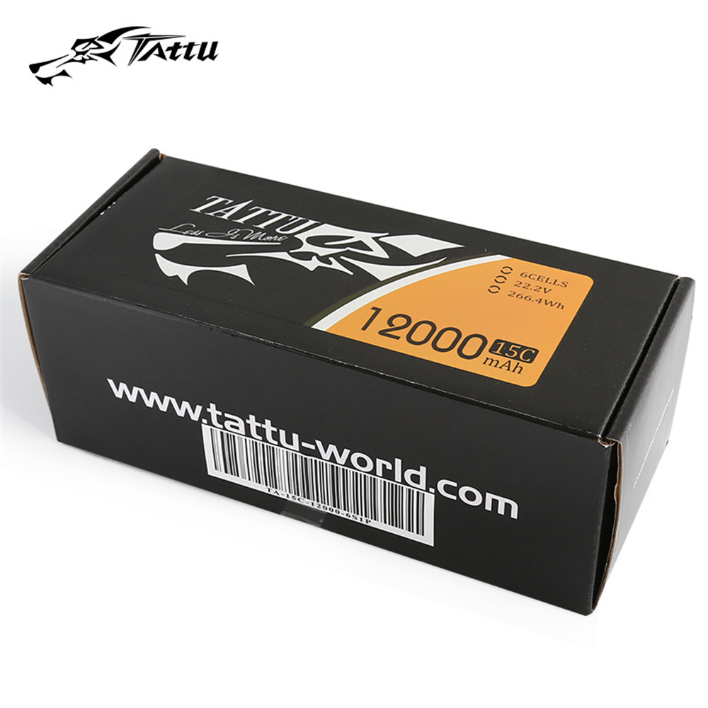 Tattu 15C <font><b>12000mAh</b></font> 6S 22.2v <font><b>Lipo</b></font> Battery Pack for Big Load Multirotor and most Agricultral Plant Protection Drone image