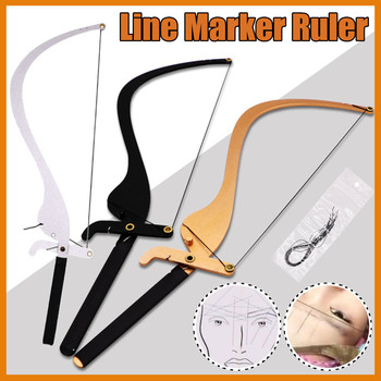 Semi-Permannet Bow and Arrow Line Ruler Microblading Measuring Tool Brow Mapping String Tool Thread Eyebrow Design Beauty Tools