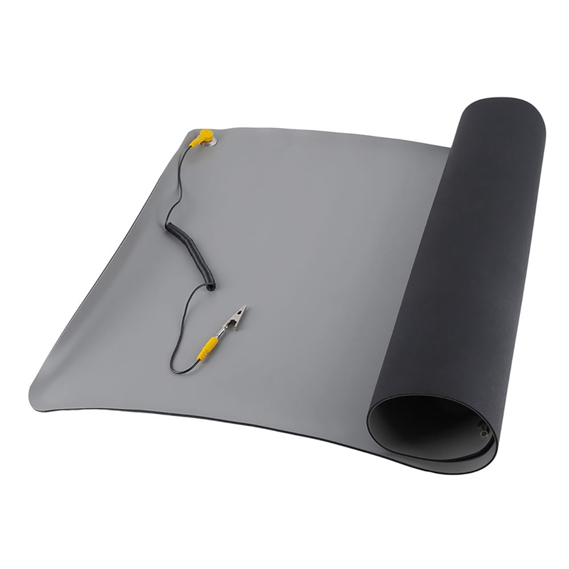Durable Desktop Anti Static Mat Silicone ESD Grounding Mats 700x500Mm + Cord For PC Laptop Repair Tools