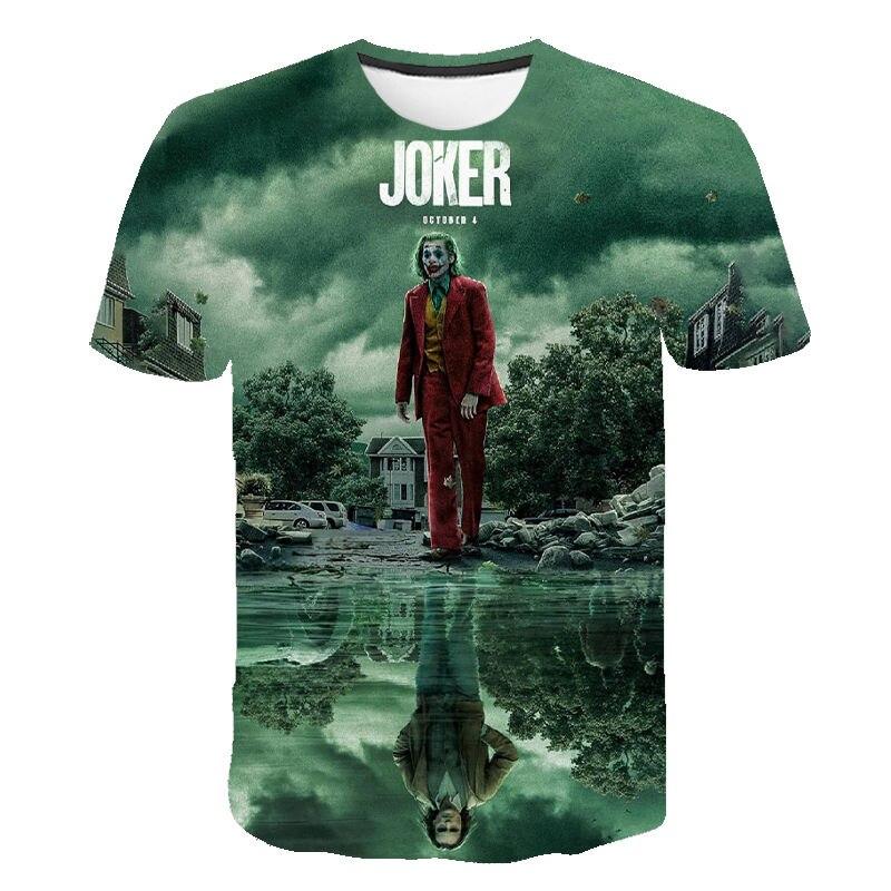 Cool 3D T-Shirts The Joker 2 Printed T Shirt Men Women Children Summer Short Sleeves Streetwear Tshirt Boy Girl Kids Tops Tees