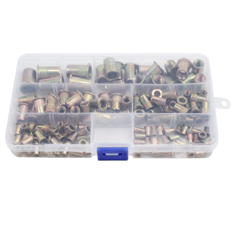 150PCS RIVNUTS THREADED BLIND RIVET NUTS OPEN END NUTSERT M3 M4 M5 M6 M8 M10