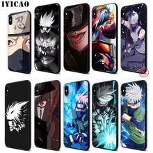 IYICAO Anime Naruto Kakashi Soft Black Silicone Case for iPhone 11 Pro Xr Xs Max X or 10 8 7 6 6S Plus 5 5S SE iyicao riverdale soft black silicone case for iphone 11 pro xr xs max x or 10 8 7 6 6s plus 5 5s se