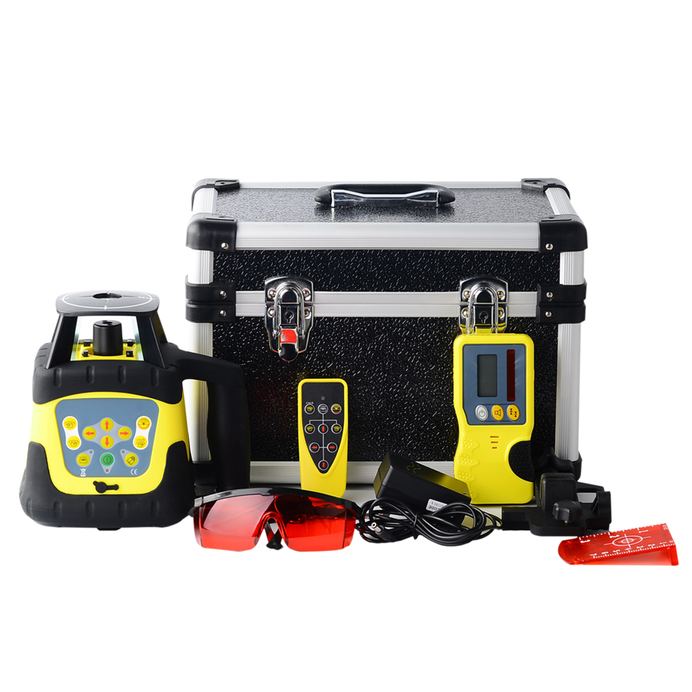 500M Automatic High Accurate Red/Green Rotary Self leveling Laser Level + Tower Ruler +Tripod Laser Levels     - title=