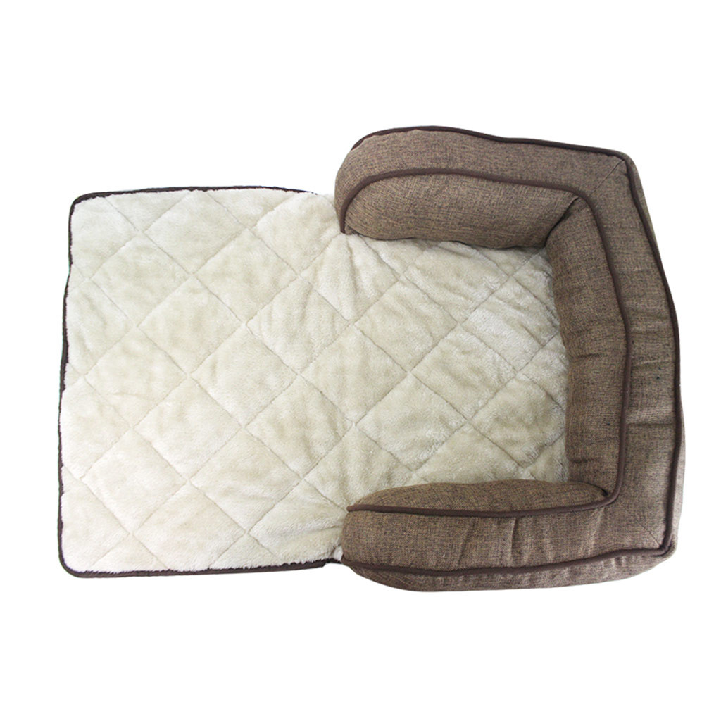 Pet Beds Sleep Warm Soft Sofas Puppy Blanket Chair Pad Floral Print Multi-function Dog Cat Mats Pet Car Seat Cover Sofa Mats