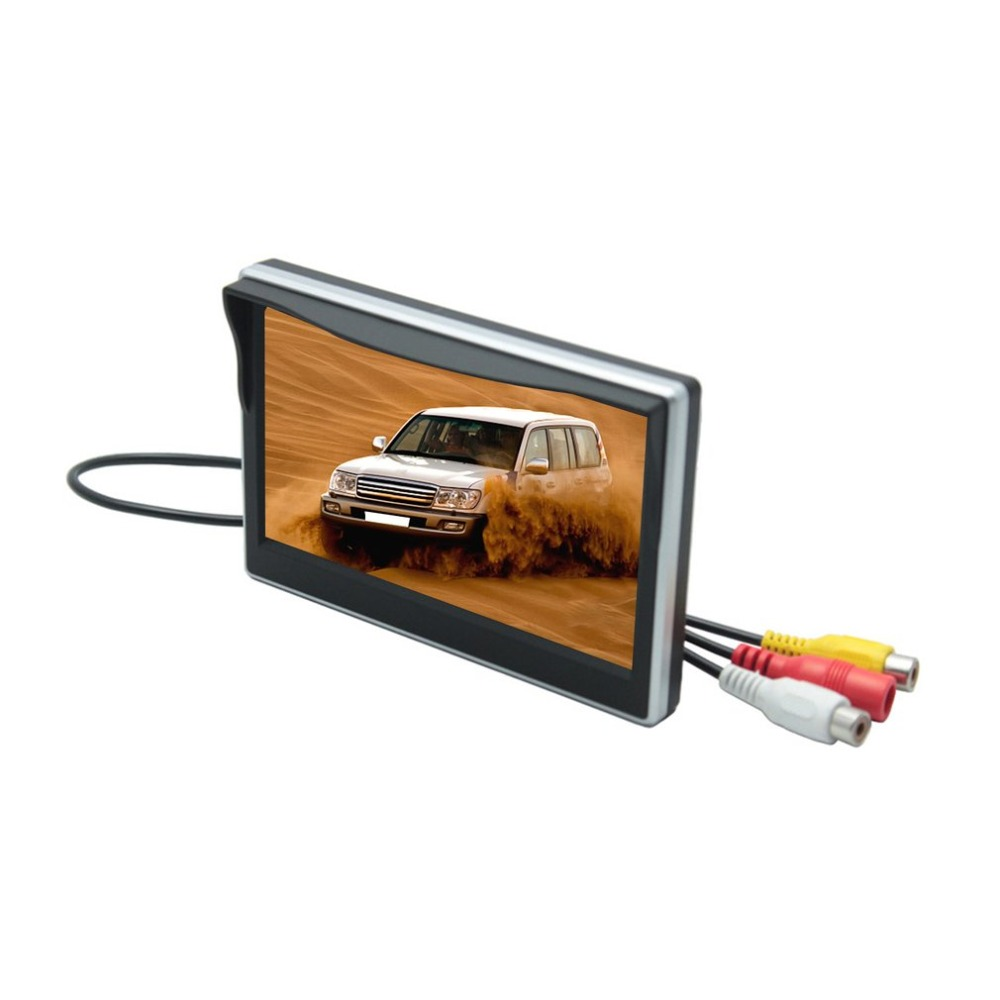 Monitor Bracket Car-Display Reverse Auto-Parking-Backup AV Input with 2-Ch TFT-LCD Digital title=
