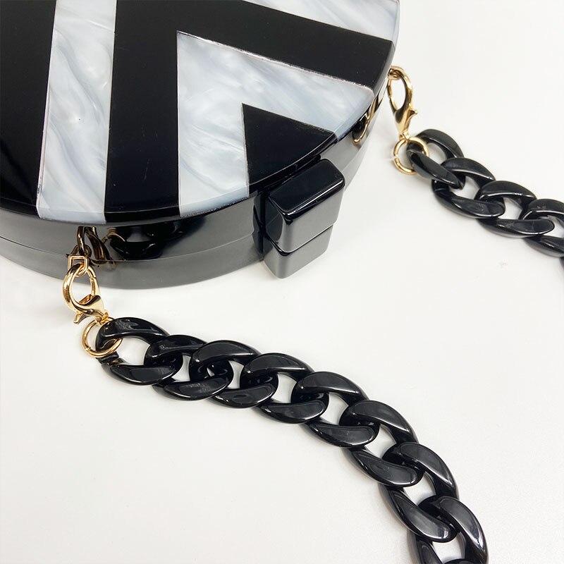 1 PC 60cm/120cm Detachable Replacement Shoulder Strap Bag Fish Bone Acrylic Resin Handbag Chain Strap Bands Bag Accessories
