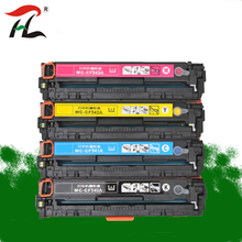 Compatible toner cartridge CB540A CB541A CB542A CB543A 125A for HP laserjet 1215 CP1215 CP1515n CP1518ni CM1312 printer