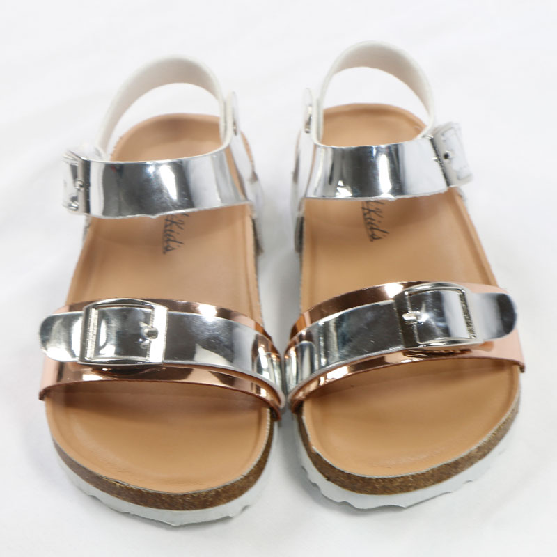 2020 Summer Kids Shoes Brand Open Toe Toddler Girls Sandals Orthopedic Corks PU Leather Baby Girl Sandals Shoes