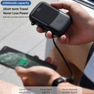 Image 2 - Baseus 10000mah batterie dalimentation 15W chargeur de téléphone 4 sortie 2 entrée affichage numérique batterie Powerbank chargeur Portable pour iP Samsung
