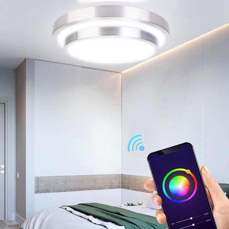 hot 60w rgb luz de teto wi fi inteligente de controle de voz vida conduziu a