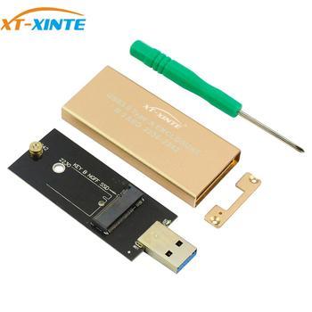 XT-XINTE USB 3.0 To M.2 SSD Enclosure Storage Case For NGFF B Key Hard Disk B+M Key M2 SATA SSD External Box Adapter For 2230