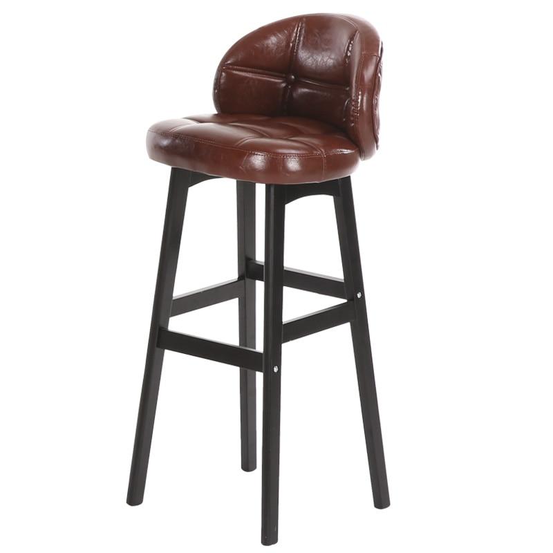Solid wood bar stool high stool modern minimalist bar chair bar front desk cashier back home chair